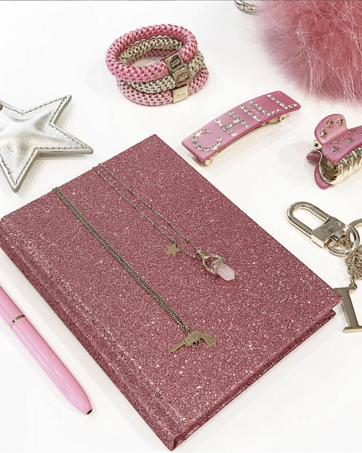 DARK Glitter Notebook A5 ─ Pink