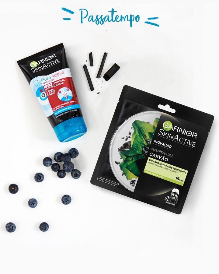 Garnier Tissue Mask Pure Charcaol Black Algae Purifying & Hydrating Pore-Tightning 28g