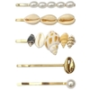 Hairpin Seashell ─ 03 Gold and Pearls