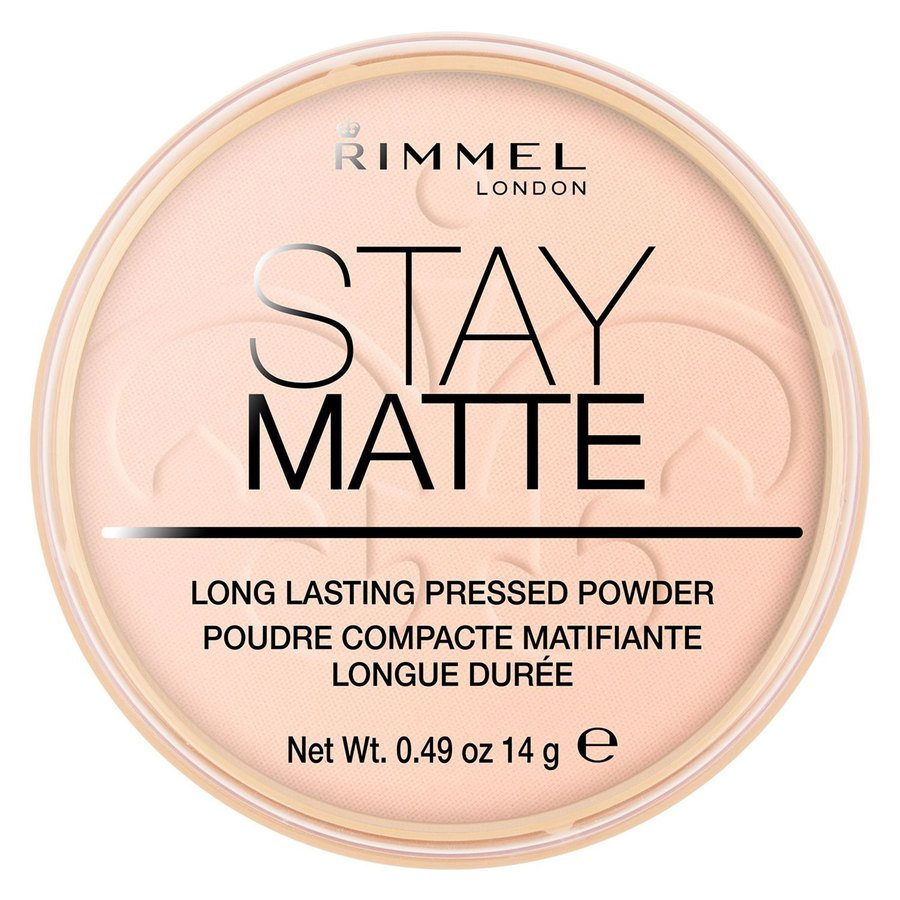 Rimmel London Stay Matte Pressed Face Powder 14 g ─ #002 Pink Blossom
