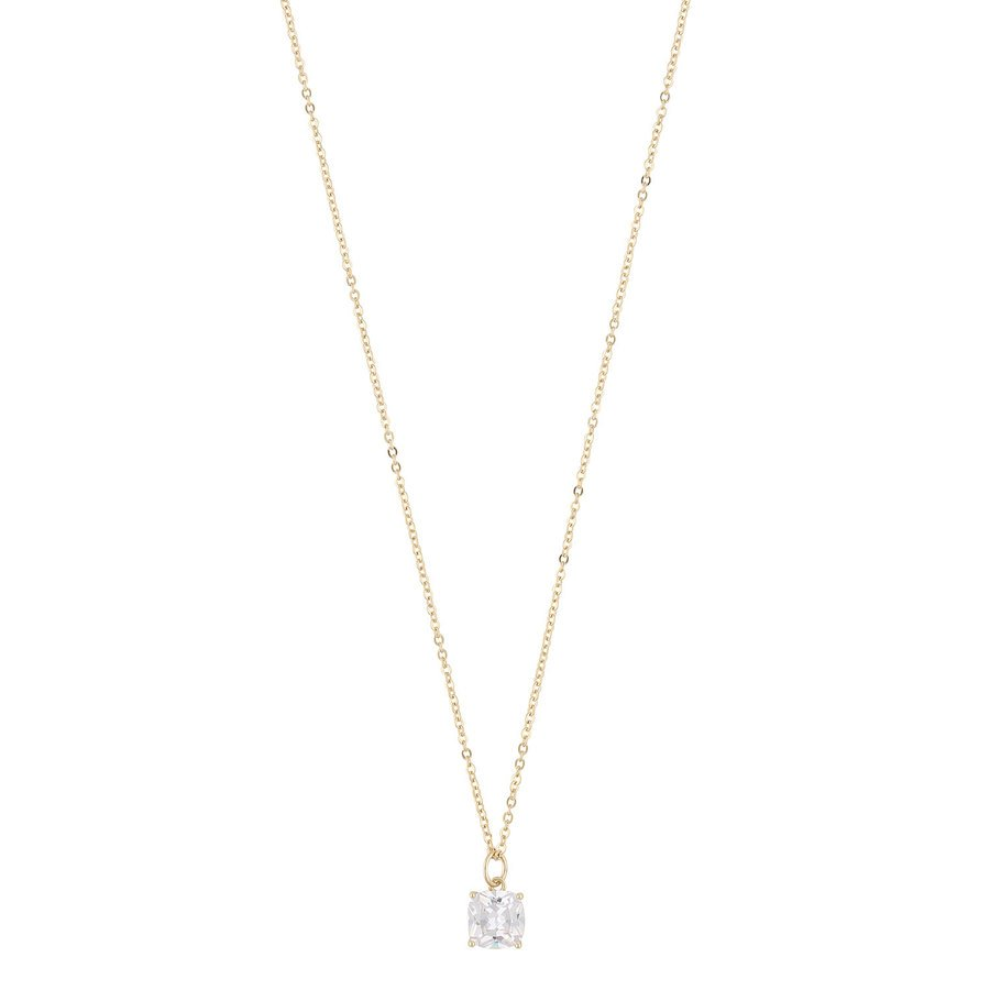 Snö Of Sweden Camille Stone Pendant Necklace 50 cm ─ Gold/Clear
