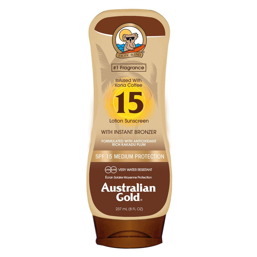 Australian Gold 15 Lotion Sunscreen With Instant Bronzer 237 ml