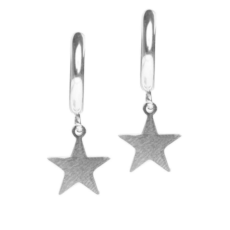 DARK Star Hoop ─ Silver