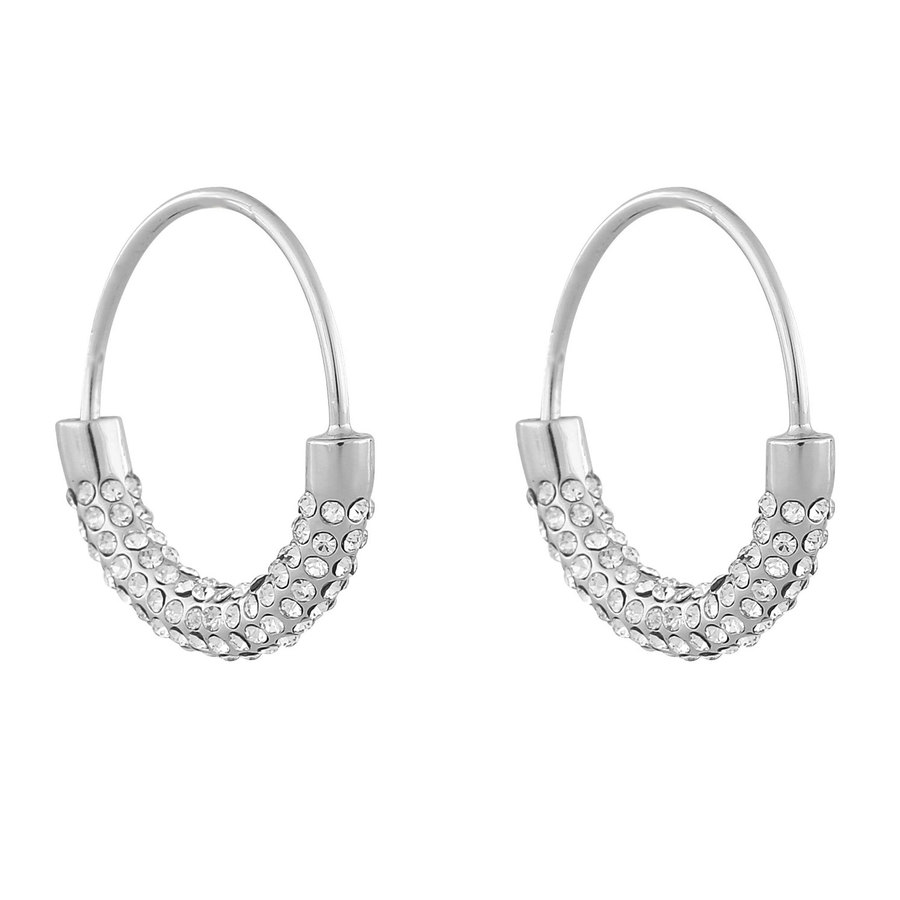 Snö Of Sweden Anglais Ring Earring ─ Silver/Clear
