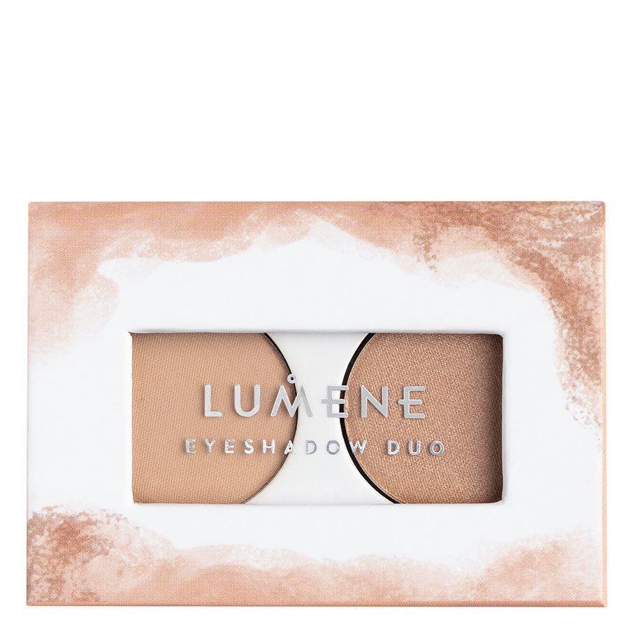Lumene Bright Eyes Eyeshadow Duo 3,2 g ─ 1 Weightless Beige