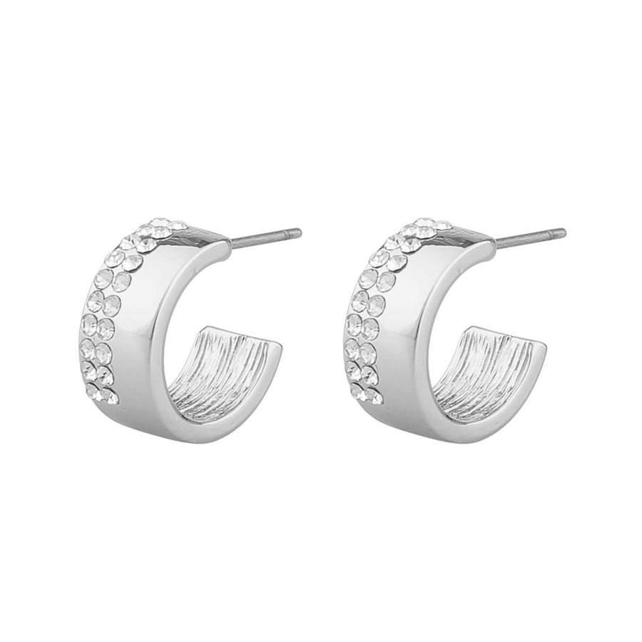 Snö Of Sweden Marseille Small Oval Earring – Silver/Clear