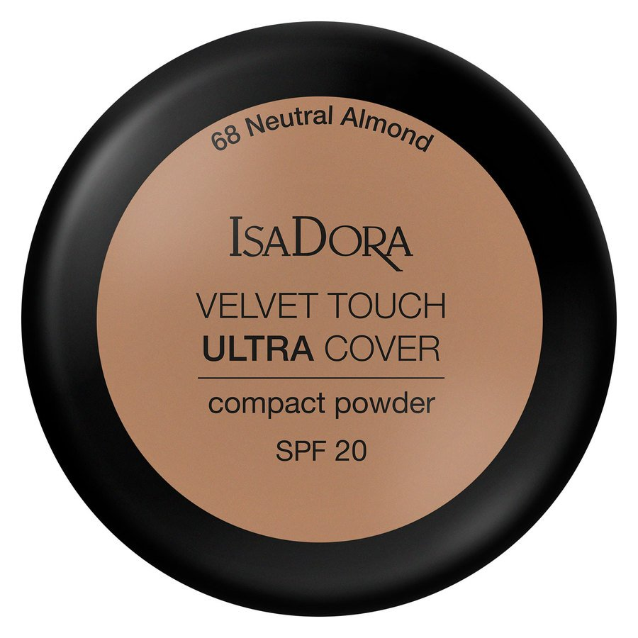 IsaDora Velvet Touch Ultra Cover Compact Powder SPF20 7,5 g ─ 68 Neutral Almond