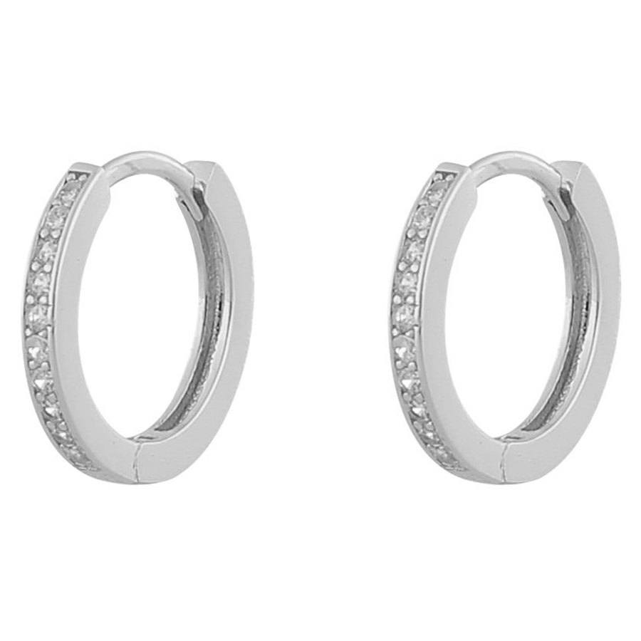 Snö Of Sweden Camille Ring Earring ─ Silver/Clear