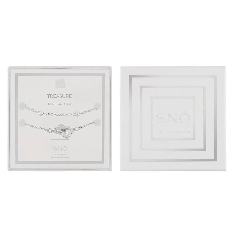 Snö Of Sweden Valentine Treasure Bracelet Set – Silver/Clear