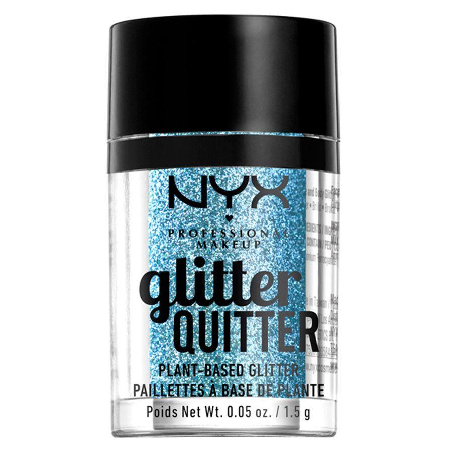 NYX Professional Makeup Glitter Quitter Plant Based Glitter 1,5 g – Blue