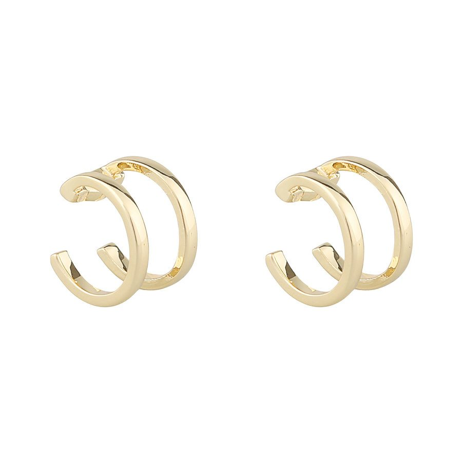 Snö Of Sweden Mette Cuff Earrings – Plain Gold