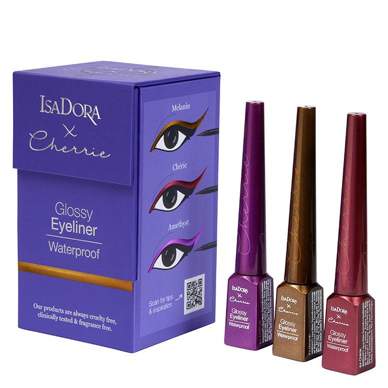 IsaDora X Cherrie Glossy Eyeliner Trio 3kpl
