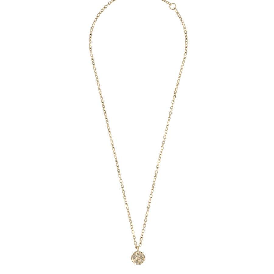 Snö Of Sweden Rue Coin Pendant Necklace 40 cm ─ Plain Gold