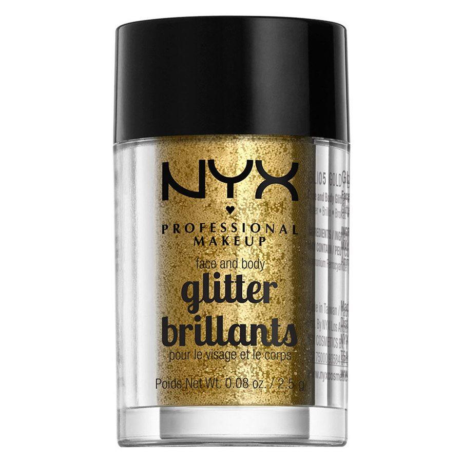 NYX Professional Makeup Face And Body Glitter Brillants 2,5g – Gold GLI05