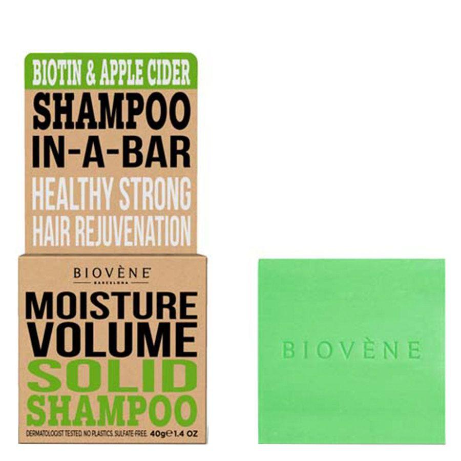 Biovène Hair Care Shampoo Bar Moisture Volume Biotin & Apple Cider 40 g