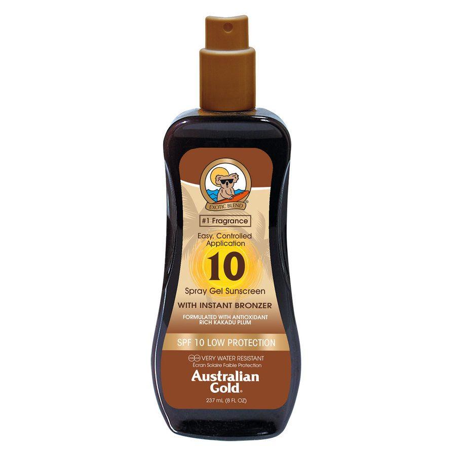 Australian Gold SPF 10 Spray Gel with Instant Bronzer 237 ml