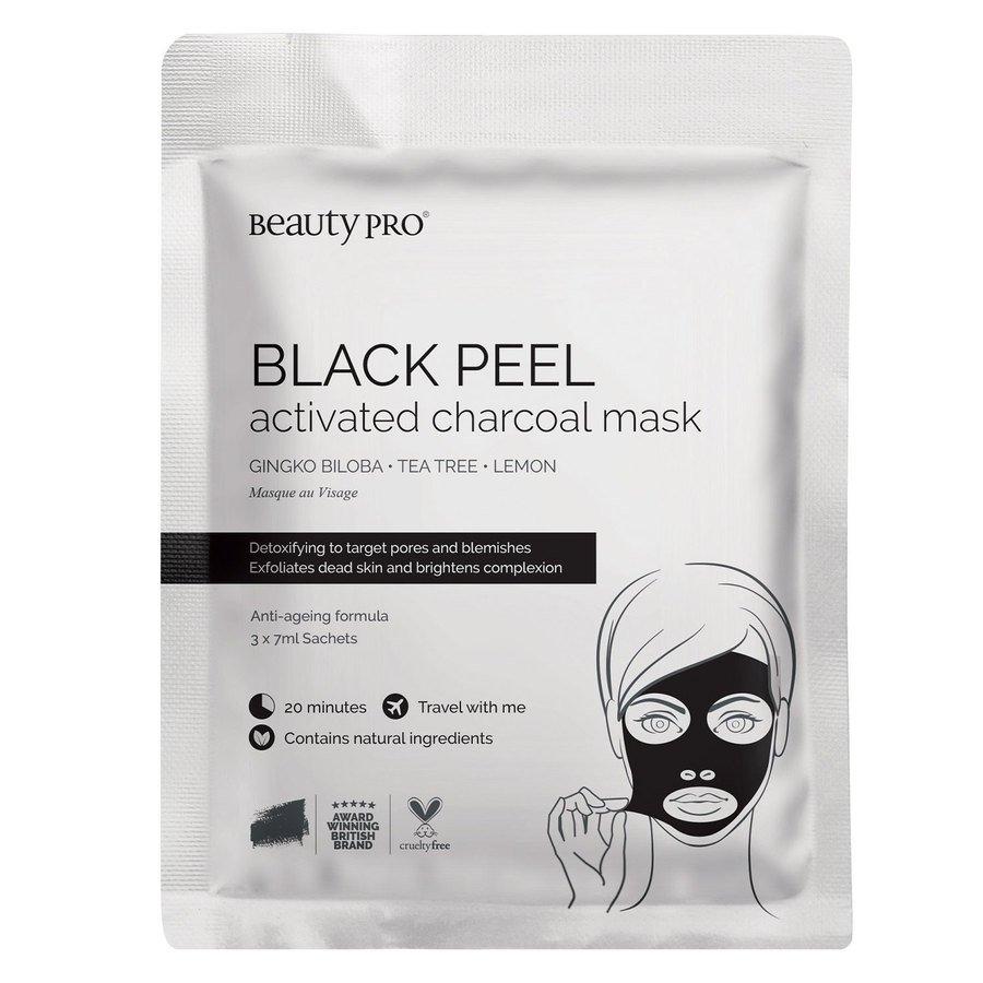 BeautyPro Black Diamond Black Peel Off Mask 3x7ml