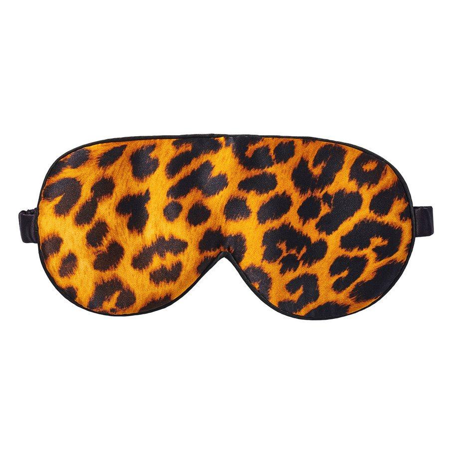 Fan Palm Sleeping Eye Mask Silk Leopard 20 x 10 cm