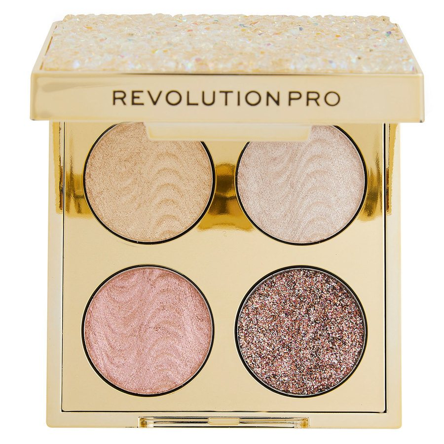 Makeup Revolution Pro Ultimate Crystal Eye Quad Champagne Crystal 4 x 0,8 g