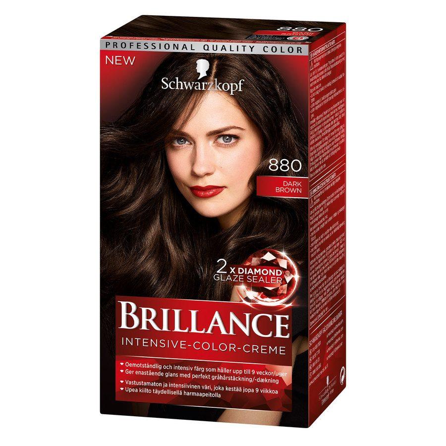 Schwarzkopf Brillance Intensive Color Creme ─ 880 Dark Brown