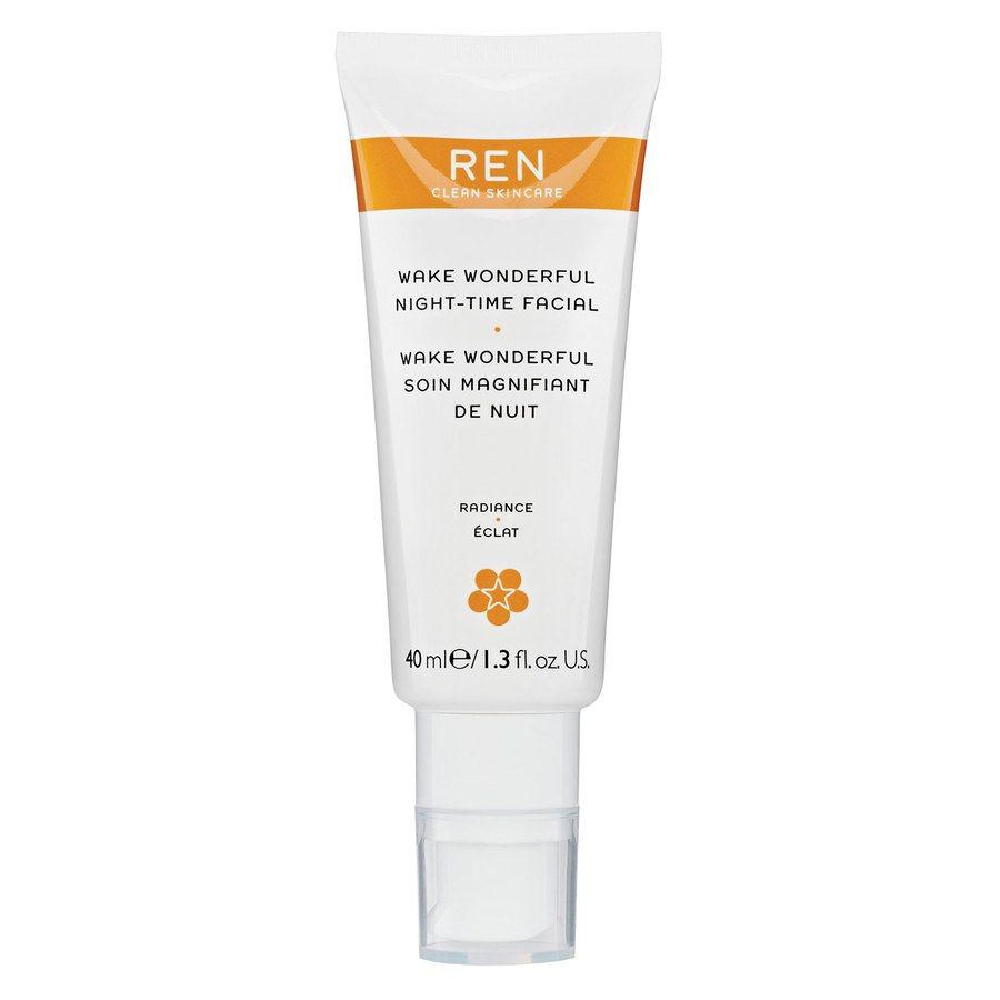 REN Clean Skincare Wake Wonderful Night-Time Facial 40 ml