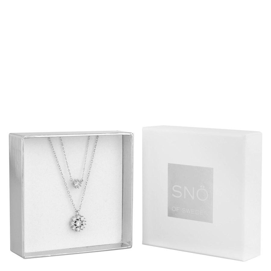 SNÖ of Sweden Crystal Vintage Necklace Set 1 - Silver/Clear