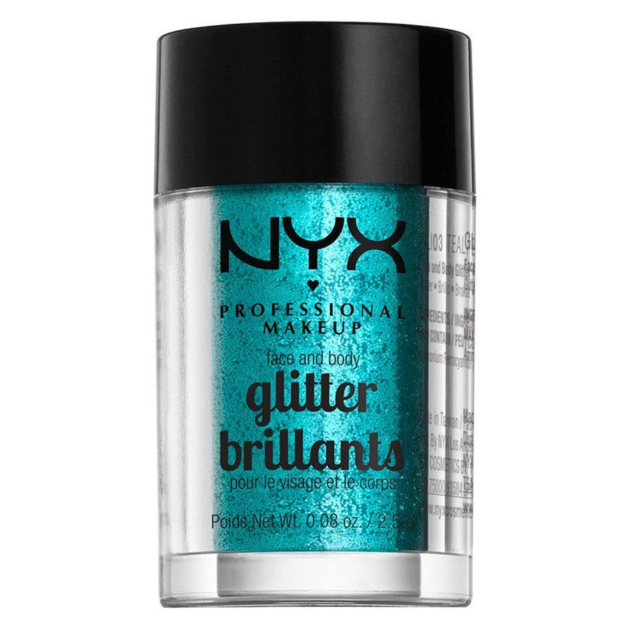 NYX Professional Makeup Face And Body Glitter Brillants 2,5g – Teal GLI03