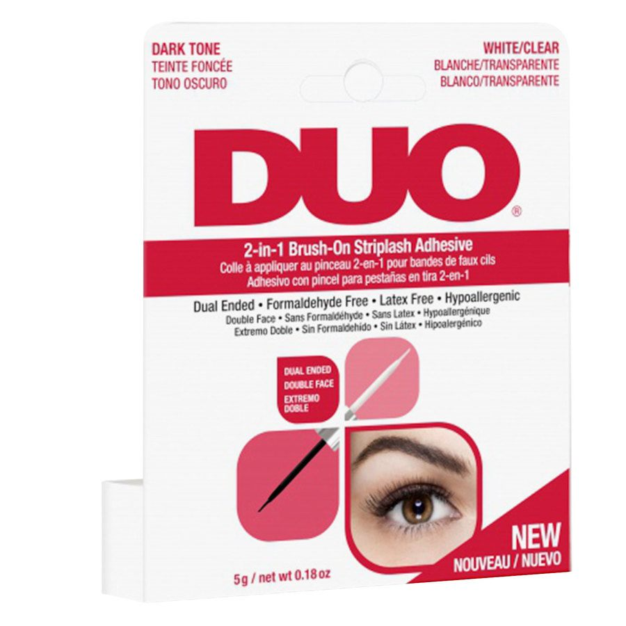 Duo 2-In-1 Brush-On Striplash Adhesive Clear And Dark 5 g