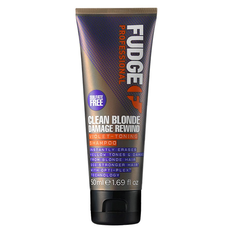 Fudge Clean Blonde Damage Rewind Violet Toning Shampoo 50ml