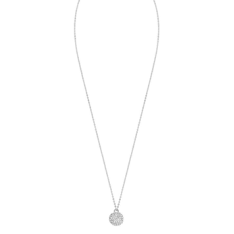 Snö of Sweden Zin Pendant Necklace 60 cm – Silver/Clear