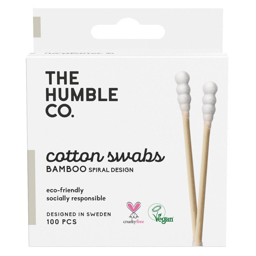 The Humble Co Humble Natural Spiral Cotton Swabs 100 kpl – White