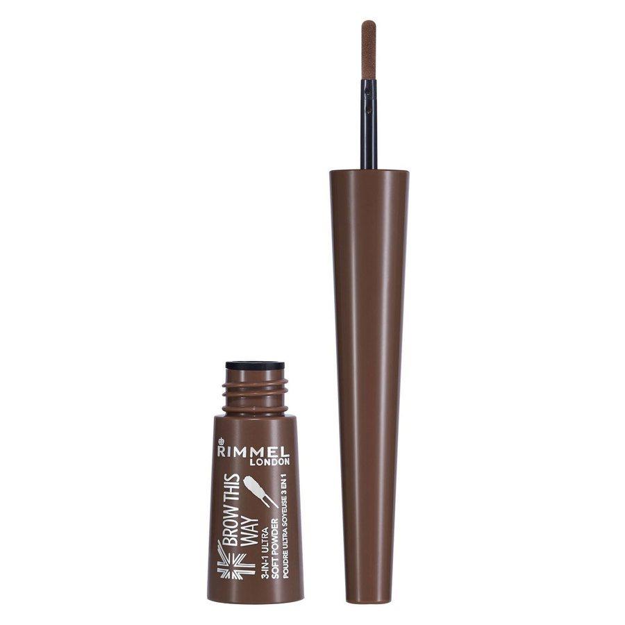 Rimmel London Brow This Way Brow Shake Filling Powder 2,5 g ─ #002 Medium Brown