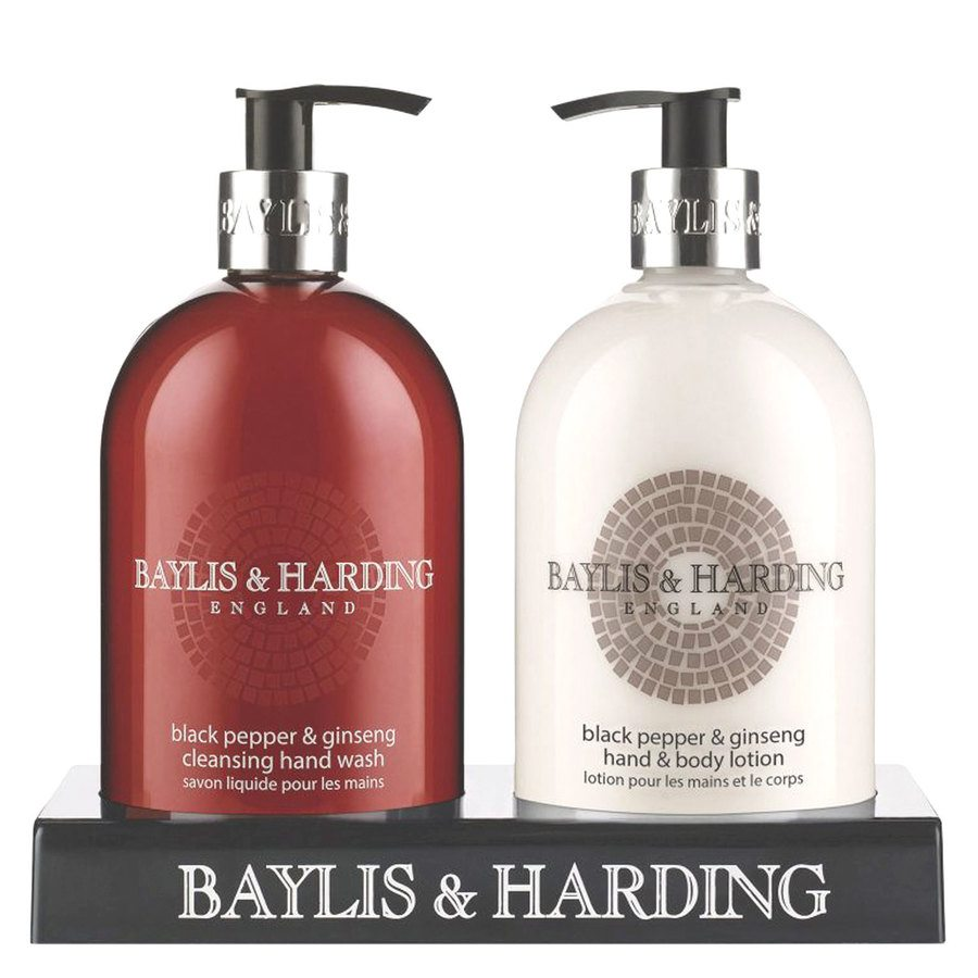 Baylis & Harding Black Pepper & Ginseng Hand Wash And Hand & Body Lotion 2 x 500 ml