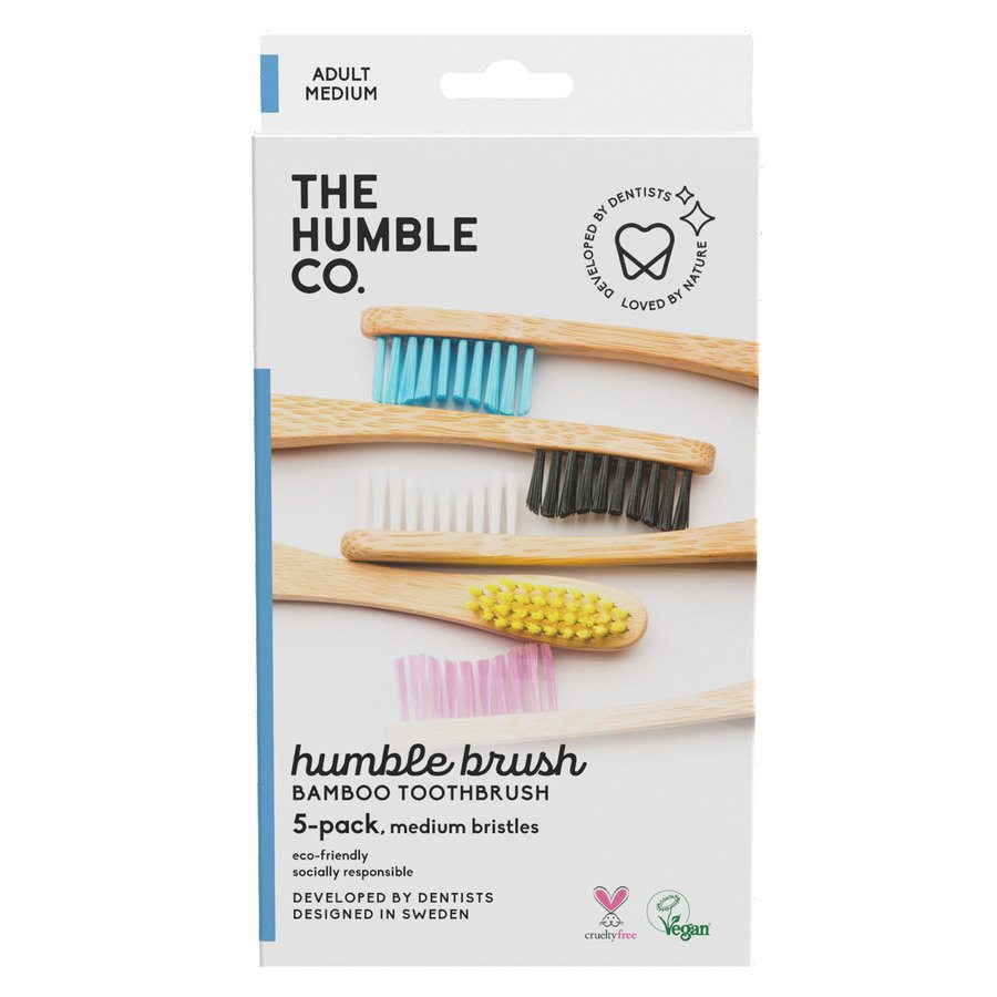 The Humble Co Flat Curved Adult Medium 5 kpl