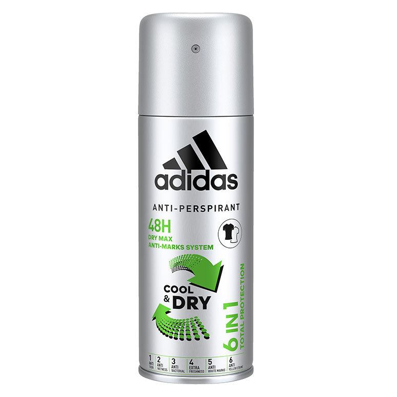 Adidas Anti-Perspirant Cool & Dry 6 In 1 Deodorant Spray 200 ml