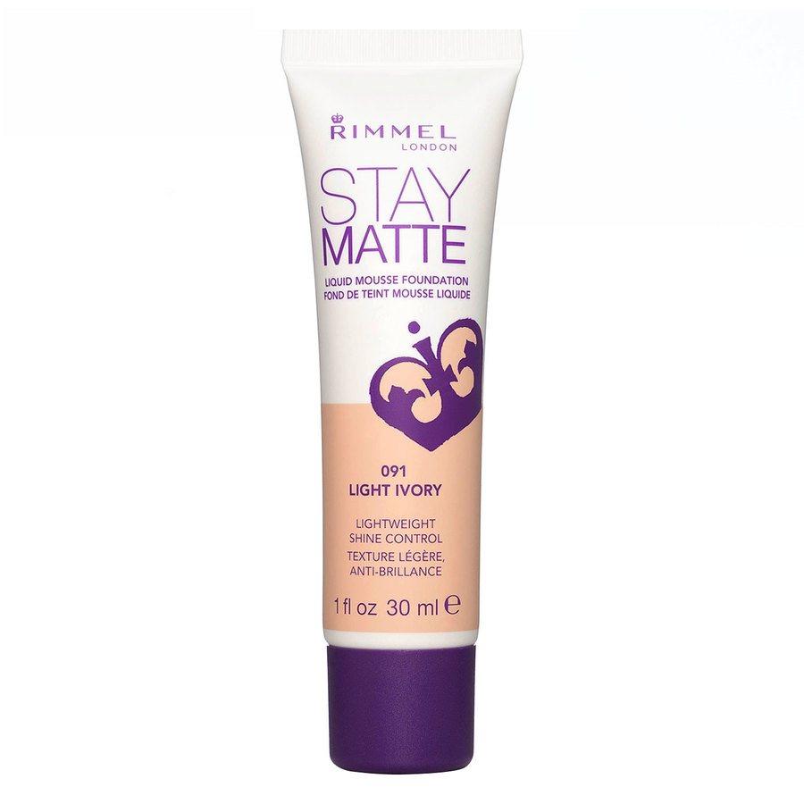 Rimmel Stay Matte Liquid Mousse Foundation Light Ivory 091 30ml