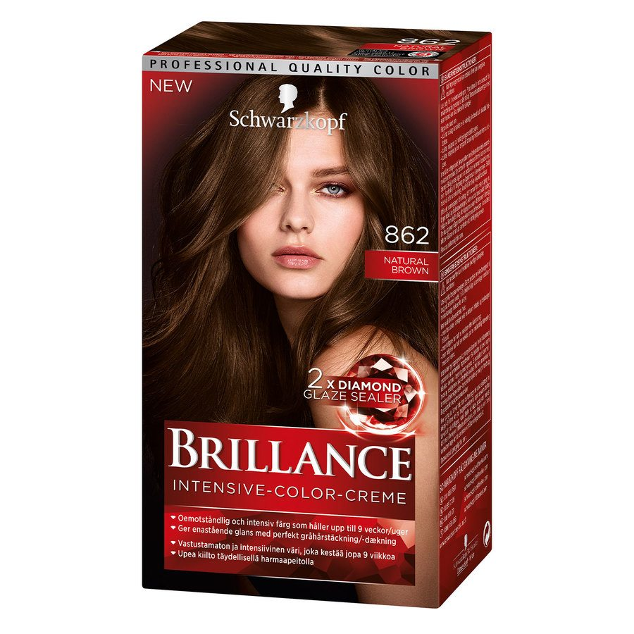 Schwarzkopf Brillance Intensive Color Creme ─ 862 Natur Brown