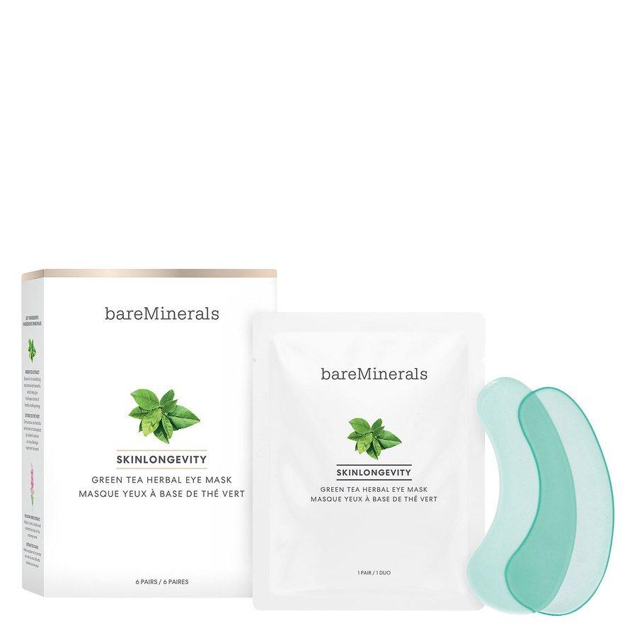 bareMinerals Skinlongevity Green Tea Herbal Eye Mask 6 paria