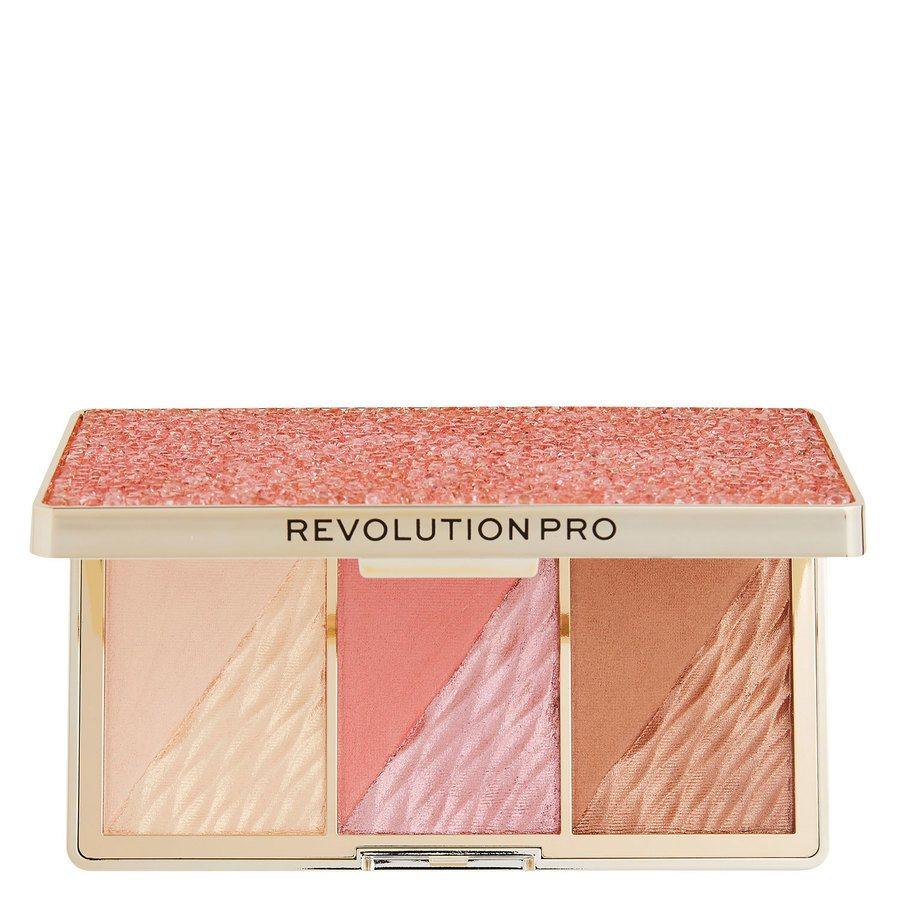 Makeup Revolution Pro Crystal Luxe Dimension Palette Rose Fresco 3 x 2,8 g