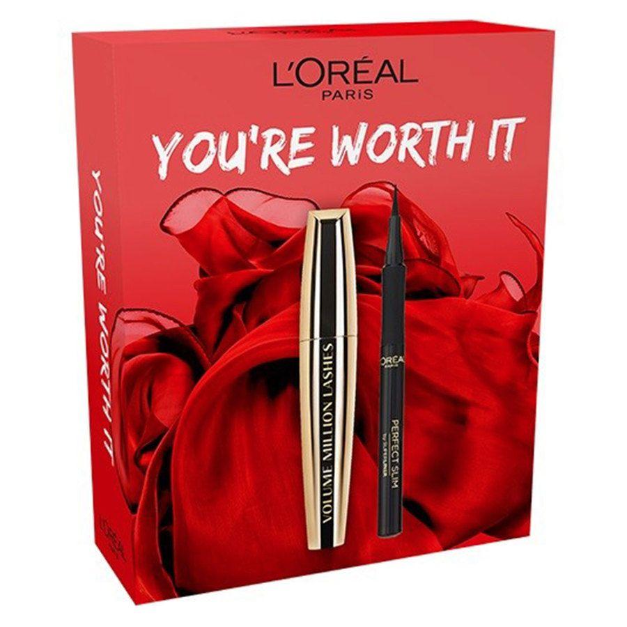 L'Oréal Paris Volume Million Lashes & Perfect Slim Liner Lahjapakkaus