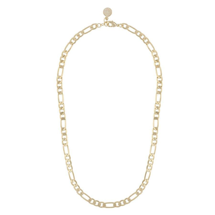 Snö Of Sweden Anchor Chain Necklace 42 cm ─ Plain Gold