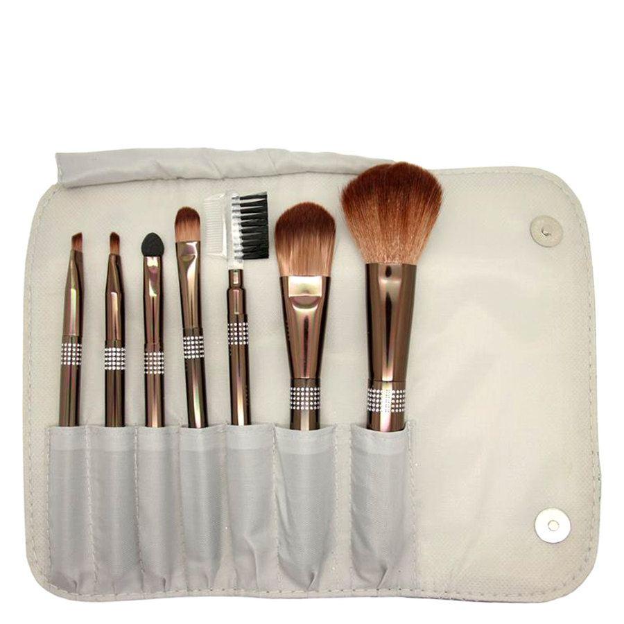 Smashit Cosmetics Shiny Silver Brush Set (7 osaa)