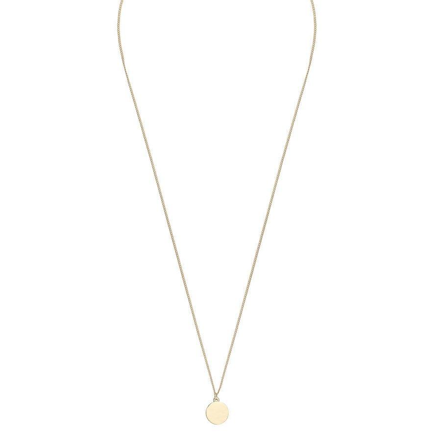 Snö Of Sweden Bridget Pendant Necklace 60 cm - Plain Gold
