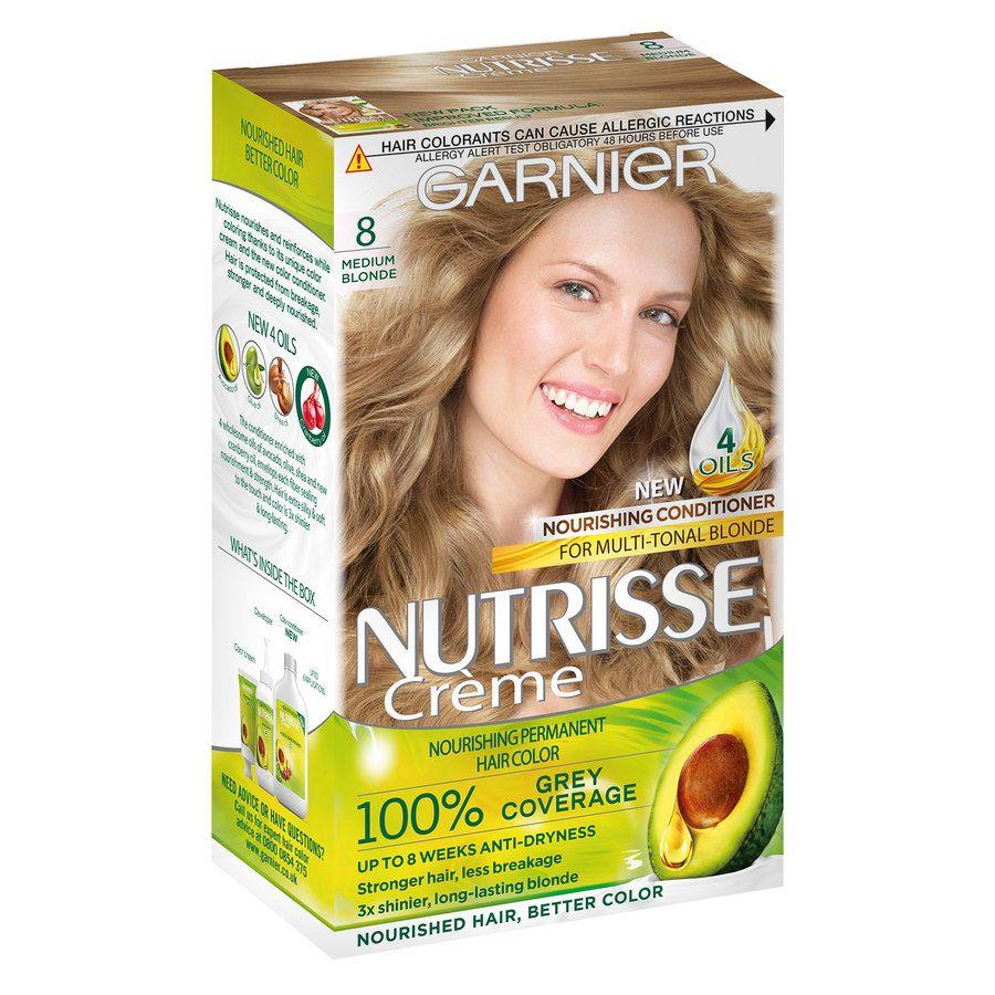 Garnier Nutrisse Cream – 8 Medium Blonde