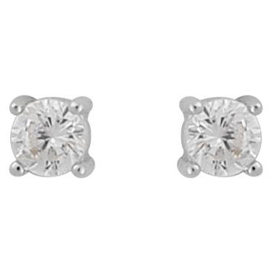 Snö Of Sweden Camille Small Stone Earring ─ Silver/Clear