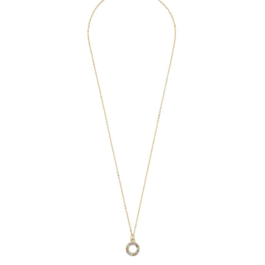 Snö Of Sweden Lindsey Small Pendant Necklace 42 cm ─ Gold/Pink Mix