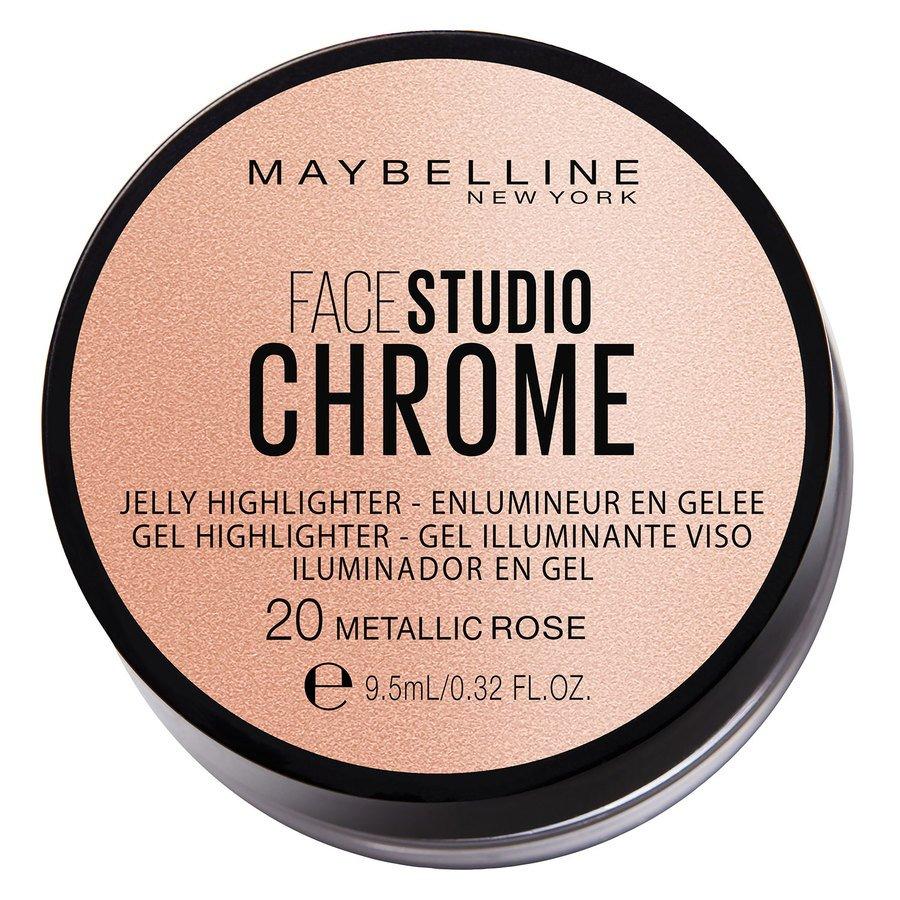 Maybelline Chrome Jelly Highlight 9,5 ml - #20 Metallic Rose