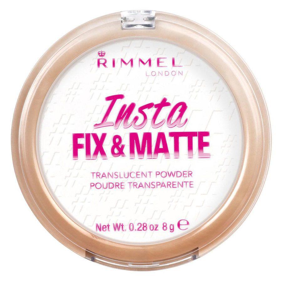 Rimmel London Insta Fix And Matte Powder 8 g ─ #001 Translucent