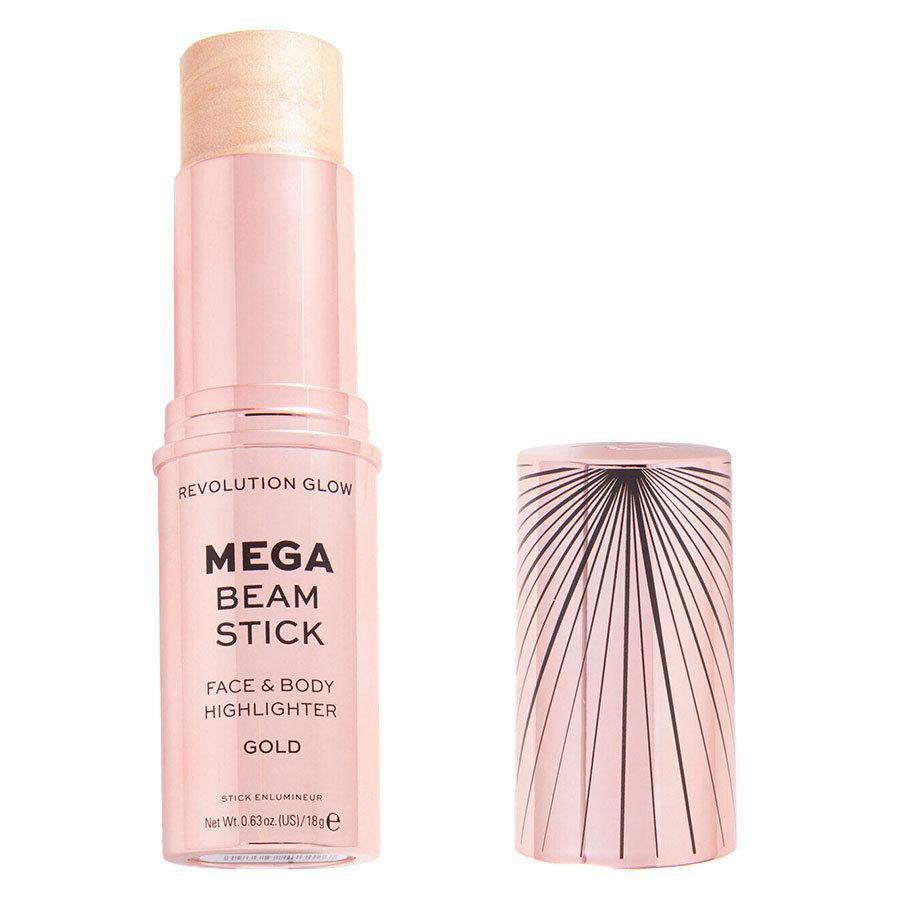 Makeup Revolution Glow Mega Beam Stick Face & Body Highlighter 18 g – Gold