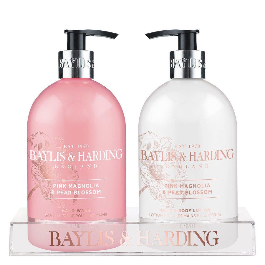 Baylis & Harding Pink Magnolia & Pear Blossom 2 Bottle Lahjapakkaus